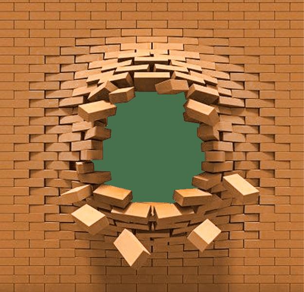 a 3d brick wall