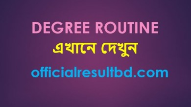 Degree Routine 2019
