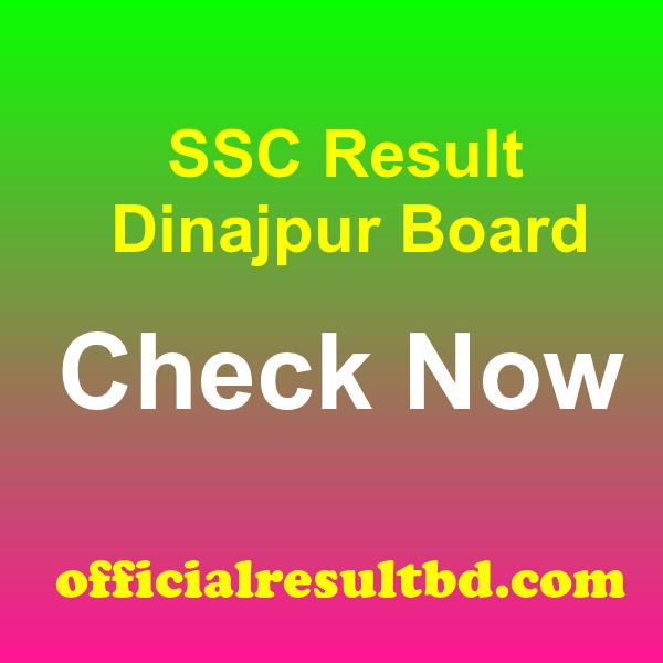 SSC Result Dinajpur Board 2020