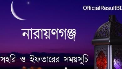 নারায়ণগঞ্জ জেলার সেহরি ও ইফতারের সময়সূচি ২০২১ Ramadan Calendar 2021 Narayanganj Sehri & Iftar Time