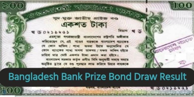 Bangladesh Bank Prize Bond Draw Result 2021