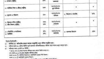 SSC Routine 2021 PDF Download Bangladesh New HSC Exam Routine of All Boards