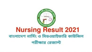 Nursing Result 2021 BNMC Result 2021 Published Link www.bnmc.gov.bd result 2021