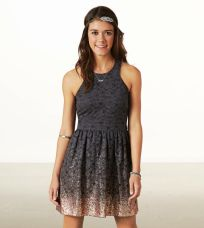 American Eagle. Ombre Dress in Ebony Grey.