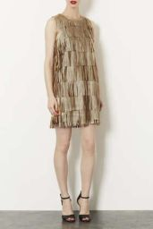 TopShop. Metallic Tassle PU Dress.
