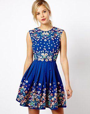 TopShop. ASOS Skater Dress With Floral Embroidery. $141.14 http://us.asos.com/ASOS-Skater-Dress-With-Floral-Embroidery/11vzp9/?iid=3341894&cid=15801&sh=0&pge=2&pgesize=204&sort=-1&clr=Blue&r=2&mporgp=L0FTT1MvQVNPUy1Ta2F0ZXItRHJlc3MtV2l0aC1GbG9yYWwtRW1icm9pZGVyeS9Qcm9kLw..