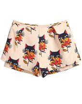http://www.sheinside.com/Apricot-Low-Waist-Floral-Cats-Print-Shorts-p-163109-cat-1740.html