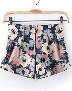 http://www.sheinside.com/Blue-Zipper-Floral-Straight-Shorts-p-163856-cat-1740.html