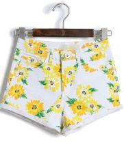 http://www.sheinside.com/White-High-Waist-Daisy-Print-Shorts-p-165434-cat-1740.html
