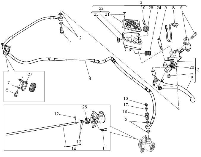 ハンドルバーユニット: 油圧式クラッチコントロール