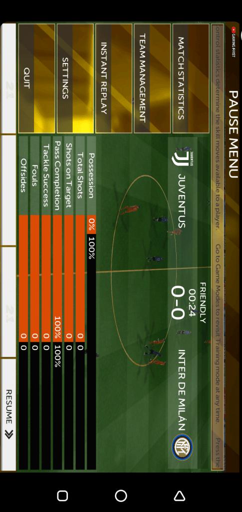Screenshot of FTS 21 App