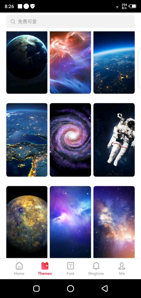 Screenshot of Oppo Theme Store App Apk