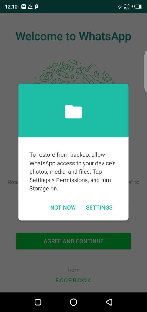 Screenshot of DWhatsApp App