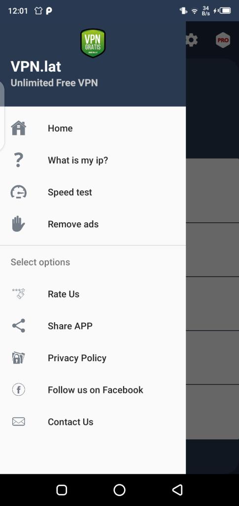Screenshot of VPN.LAT App Apk