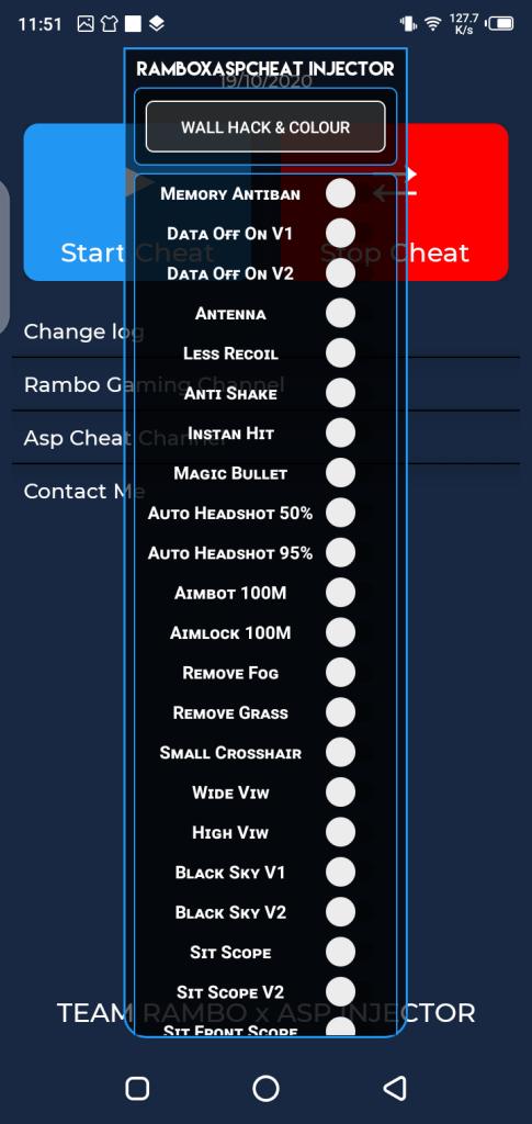 Screenshot of Rambo Injector App