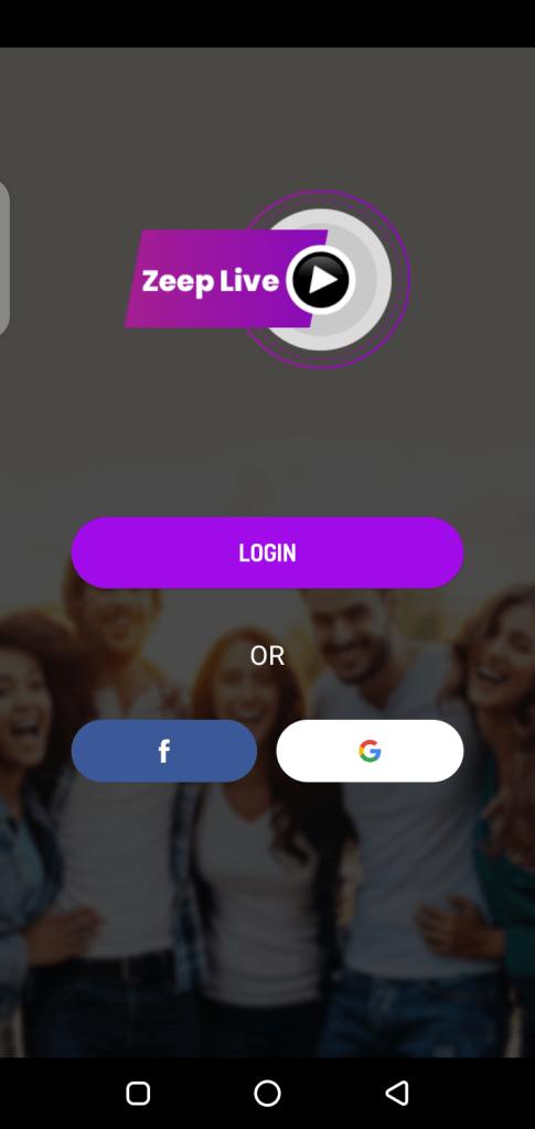 Screenshot of ZeepLive App