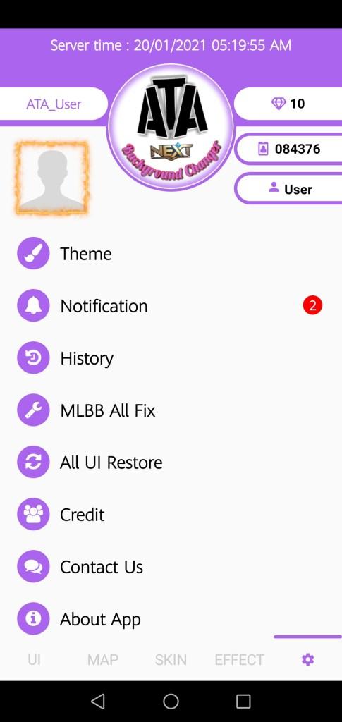 Screenshot of ATA MLBG Changer Apk