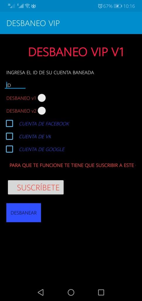 Screenshot of Desbaneo VIP Apk