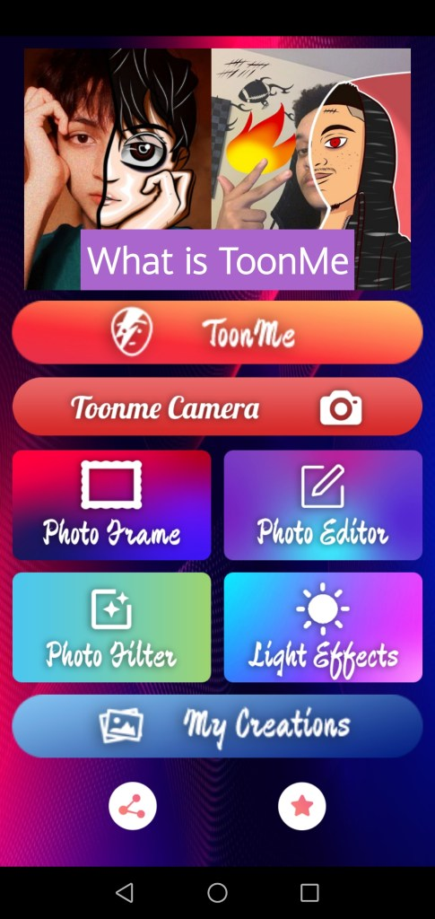 Screenshot of ToonMe Pro App Apk
