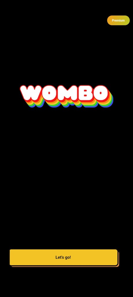 Screenshot of Wombo AI App
