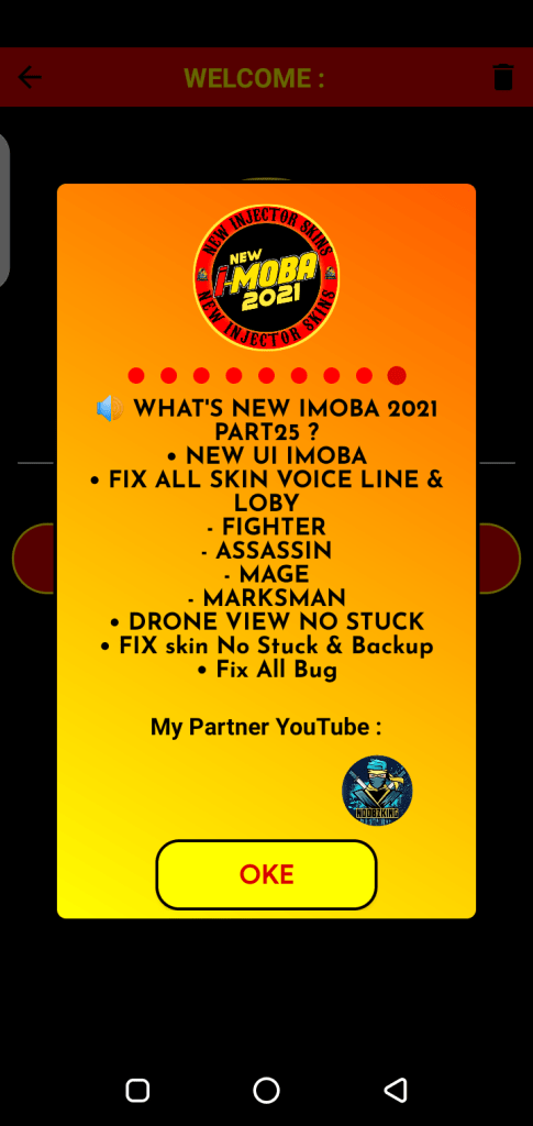 Screenshot of New IMOBA 2021