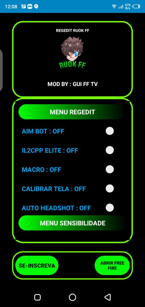 Screenshot of Regedit Macro FF Apk
