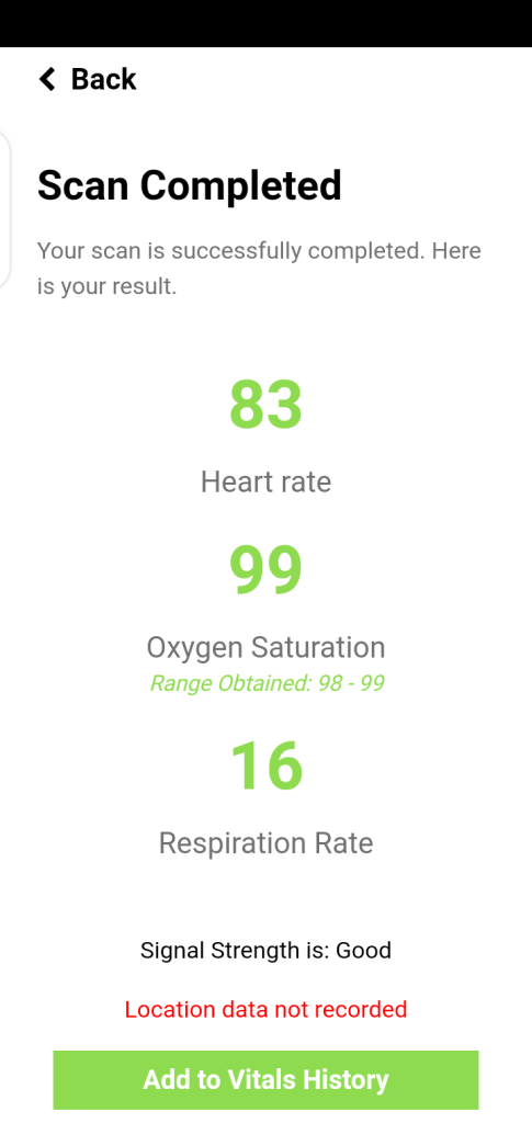 Screenshot of CarePlex Vitals Apk