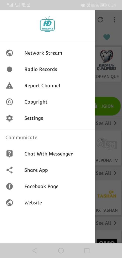 Screenshot of HD Streamz Apk