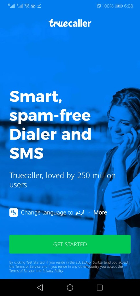 Screenshot of Truecaller Mod App