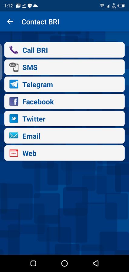 Screenshot of BRI Mobile App