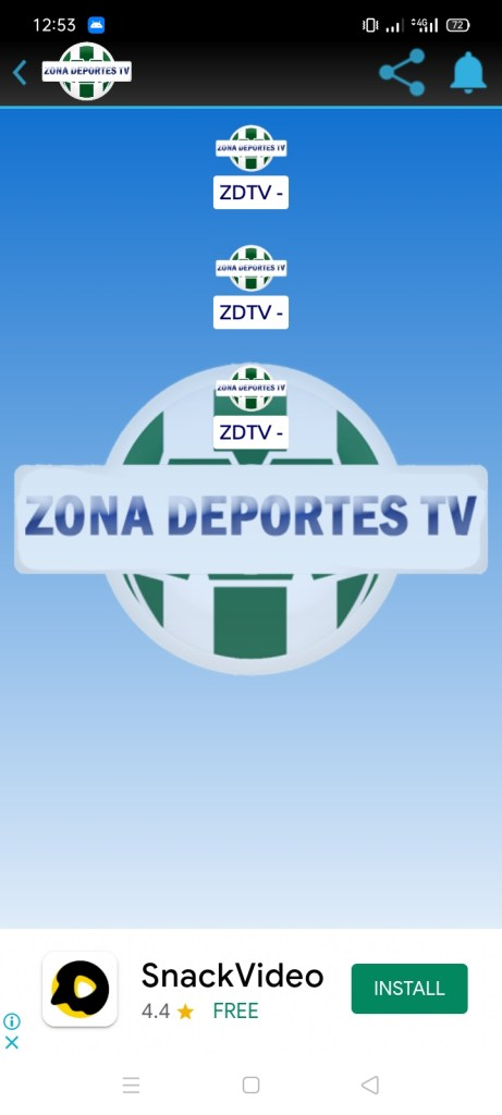 Screenshot of Zona Deportes TV Apk
