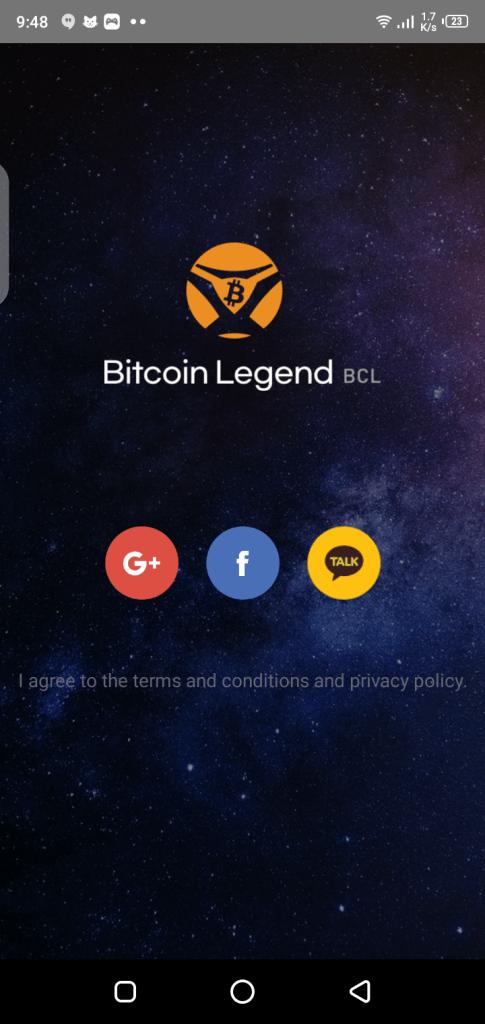 Screenshot of BitcoinLegend App