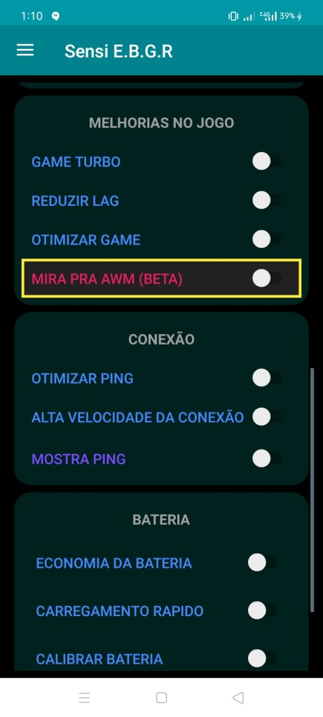 Screenshot of Sensi E.B.G.R Download