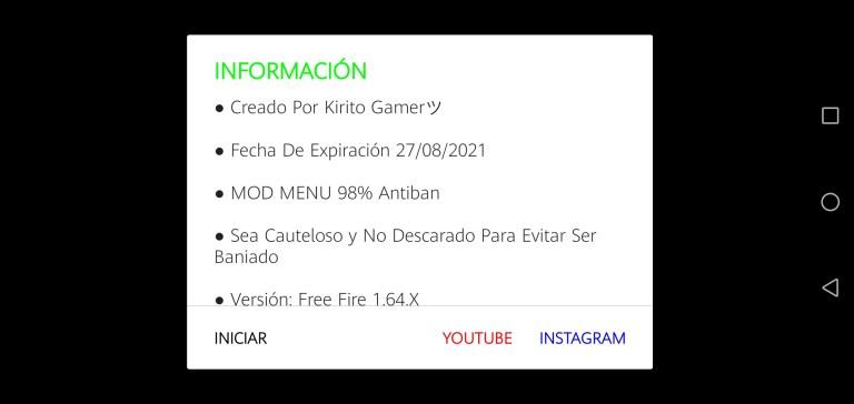 Screenshot of Nuevo MOD Menu FF Apk