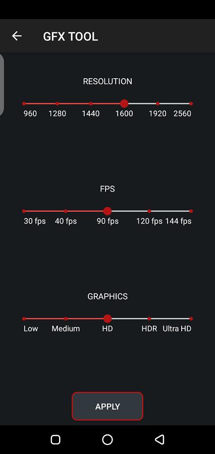 Screenshot of Game Booster VIP GFX Lag Fix App Apk