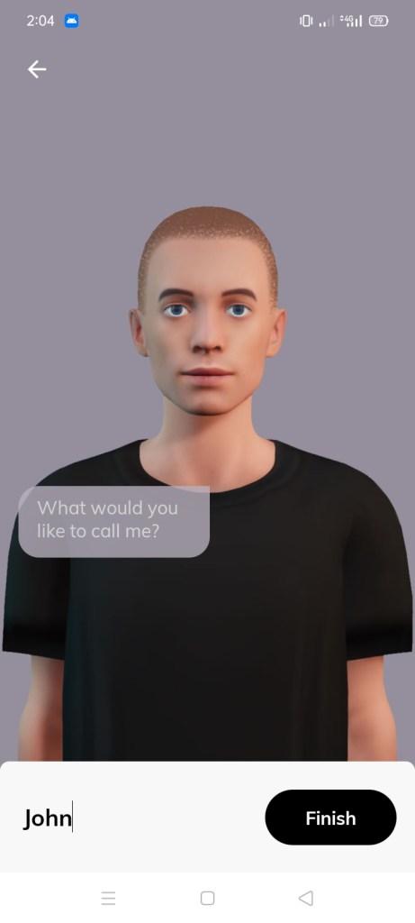 Screenshot of Replika Romantic Partner