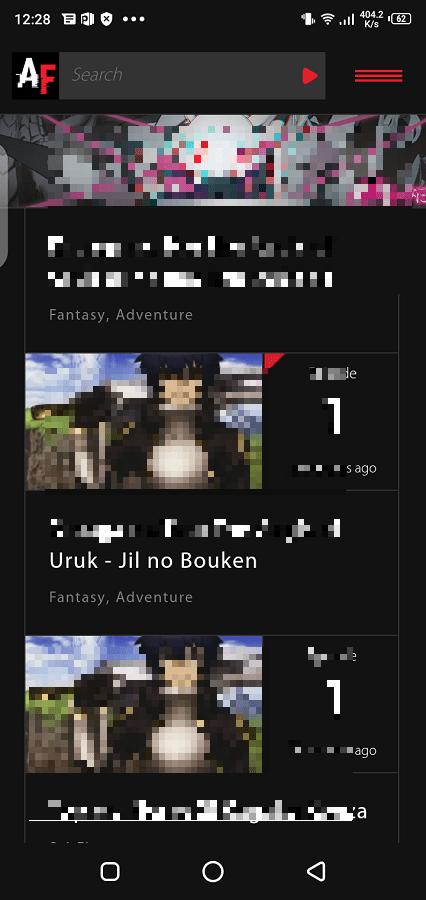 Screenshot of AnimeFrenzy App Apk