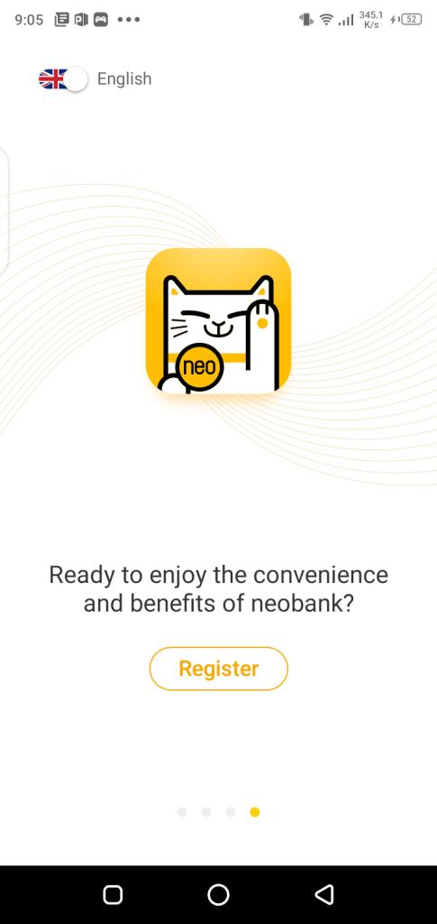 Screenshot of NeoBank