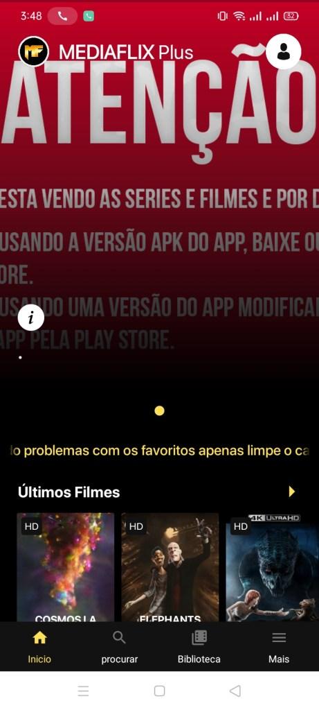 Screenshot of Mediaflix Plus Apk
