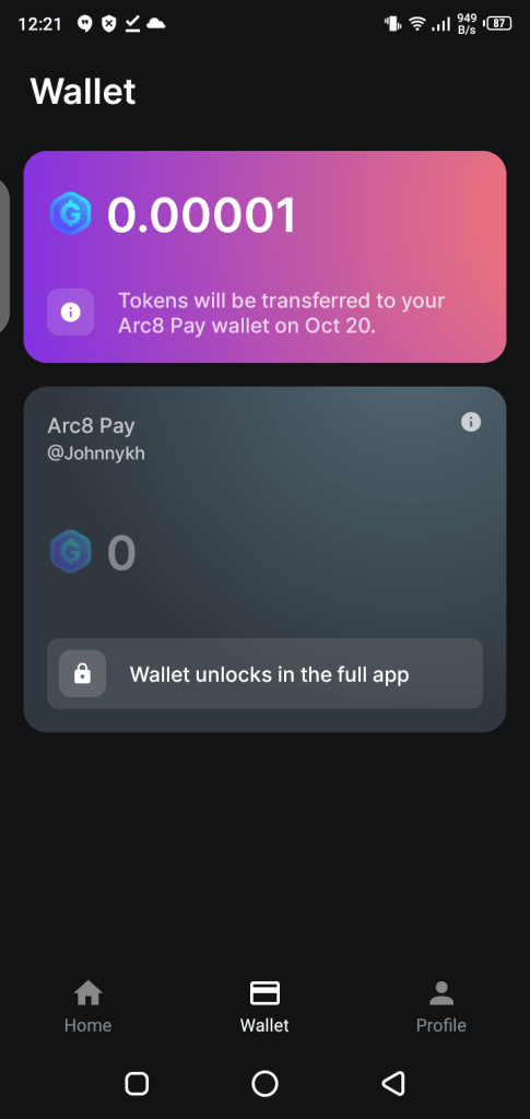 Screenshot of Arc8 for Android