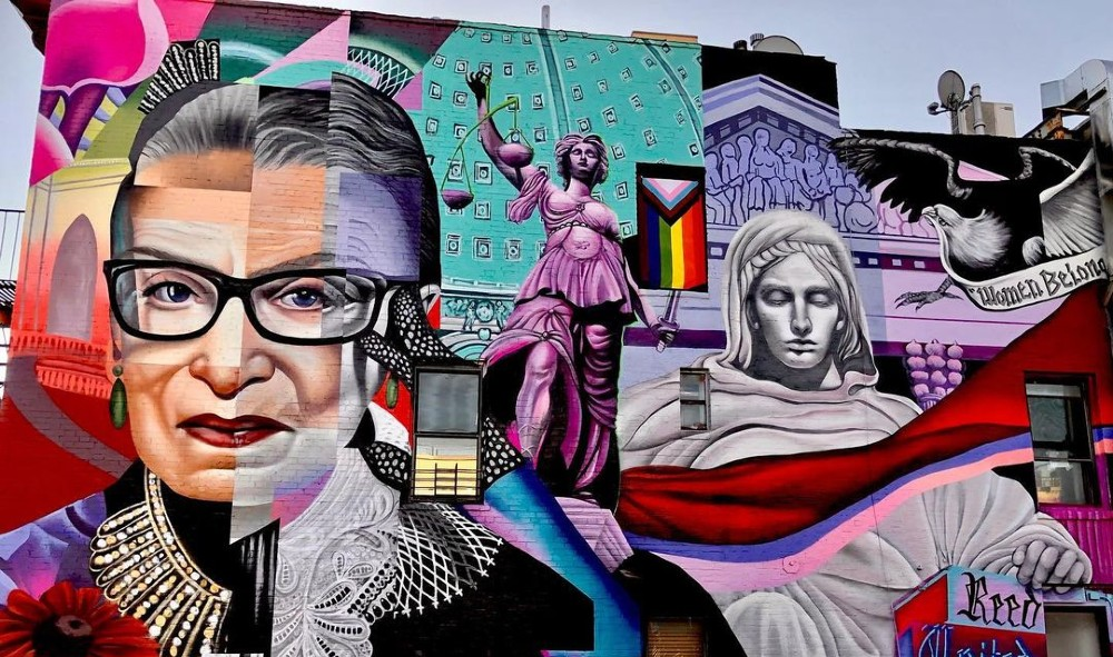 Si las fuerzas armadas de ee. The East Village S Ruth Bader Ginsburg Mural Is Officially Done Secret Nyc