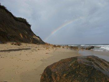 Rainbow at Clay Head Beach