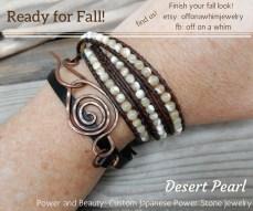 Desert Pearl Triple Layer Wrap