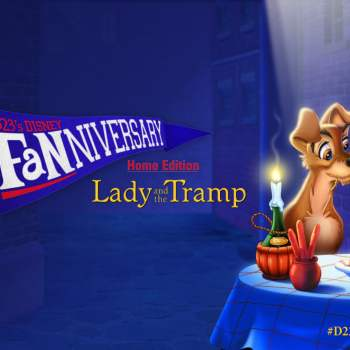 2015 D23 Fanniversary Lady and The Tramp Banner