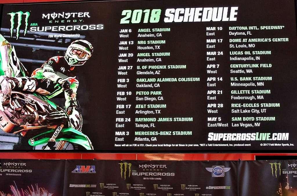 Supercross 2018 Schedule