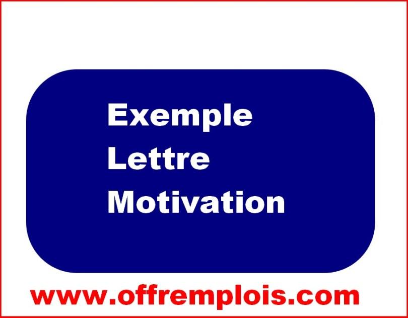 Exemple D Une Lettre De Motivation De Demande D Emploi L
