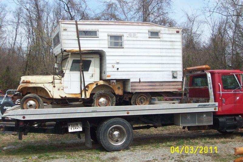 barn find jeep cj 5 camper for sale on ebay. Black Bedroom Furniture Sets. Home Design Ideas