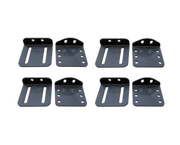 Hard Top Roof Mounts with Pivot for Universal Roof Rack in Hammer Black