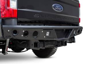 "Ford F250 2017 - up Stealth ""R"" Rear Bumper set up for duallys in Hammer Black with Satin Black panels"