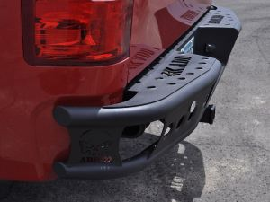 "2007.5 - 2013 Chevy Silverado 1500 Dimple ""R"" rear bumper with backup sensor cutouts"